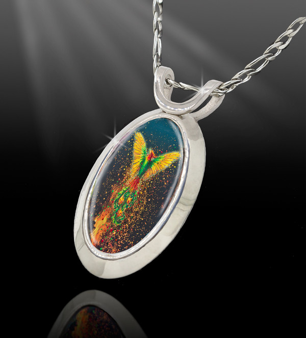 Phoenix Rising Energy Pendant  From the Magic Chi Collection
