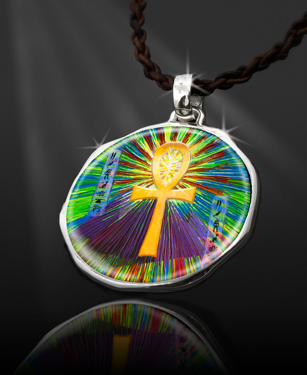 """Sacred Ankh Life-Force Energy Talisman From the """"New Bohemian"""" Collection"""