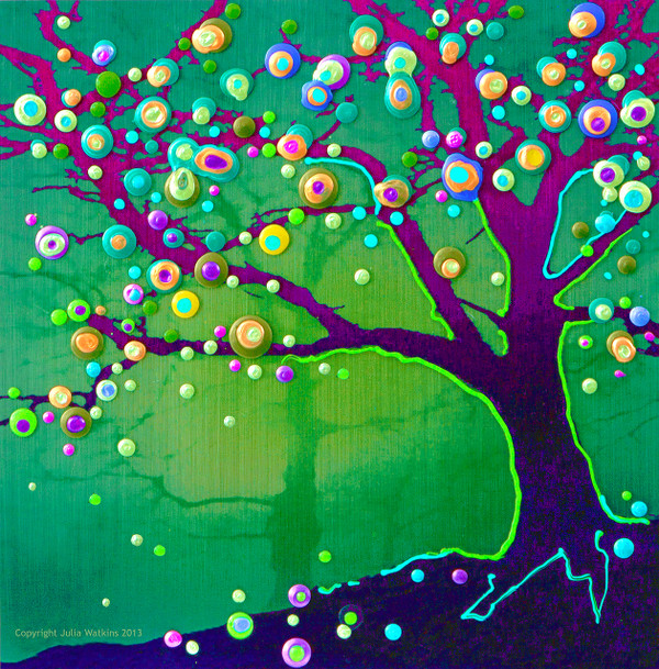 Tree Of Joy And Happiness Energy Painting - Giclee Print