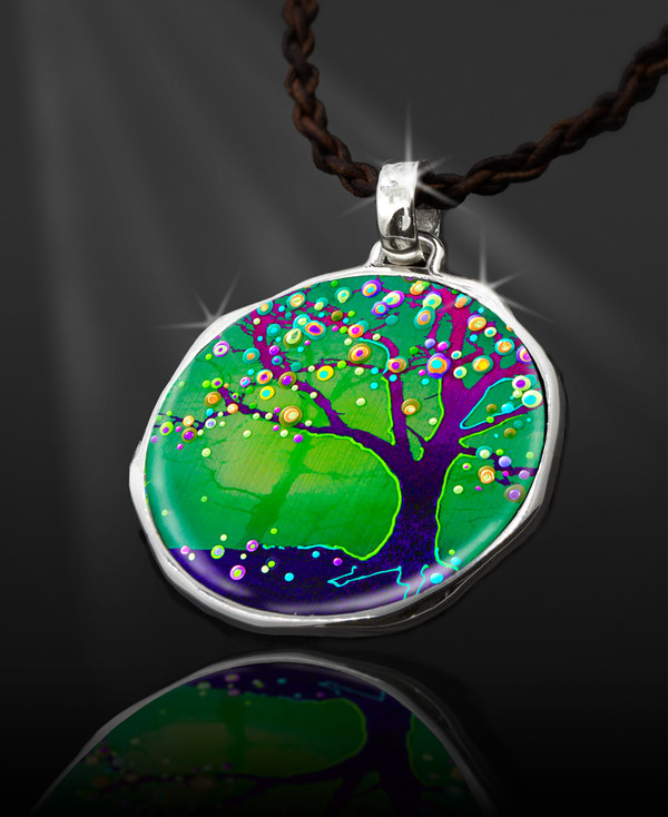 """Tree Of Joy And Happiness Energy Pendant  From the """"New Bohemian"""" Collection"""