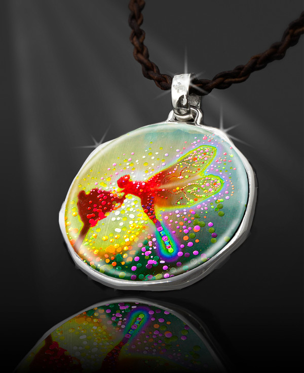 """Dragon Fairy  Energy Pendant  From the """"New Bohemian"""" Collection. Platinum Plated."""
