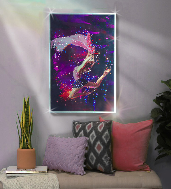 """Color Dancer  - Original energy painting. 20"""" x 30"""" inches."""