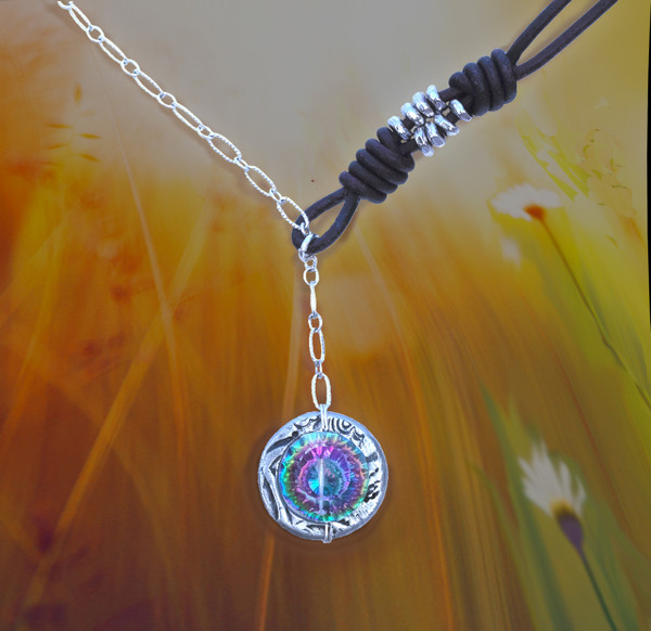 Stone Of Delight Mystic Topaz Bohemian Necklace