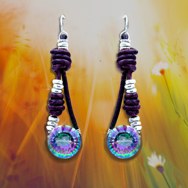 Stone Of Delight Mystic Topaz Bohemian Earrings