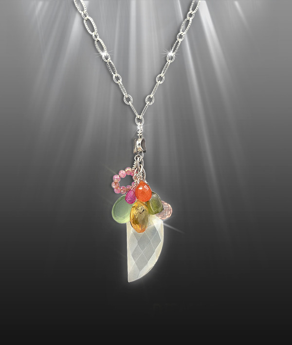 """The 8 Gem """"All Energies"""" Healing Necklace"""