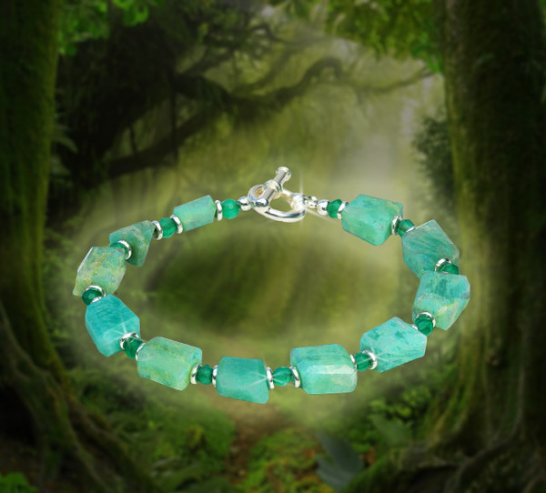 The Divine Comfort Blessing Bracelet - Green Amazonite And Apatite