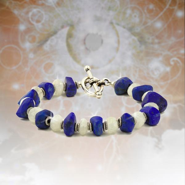 Lapis Visionary Seer's Energy Bracelet - Sacred stones of the Pharaohs