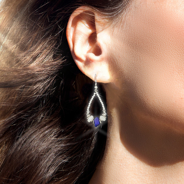 Lapis Visionary Seer's Energy Earrings- Sacred stones of the Pharaohs
