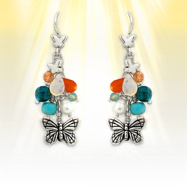 Forever Summer Butterfly Charm Earrings