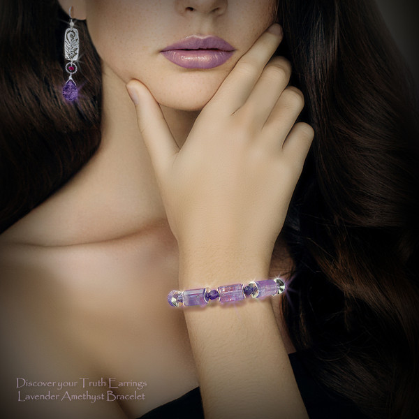 The Truth Seer's Bracelet - Lavender amethyst protects and helps you see through falsehoods that would deceive or manipulate you.