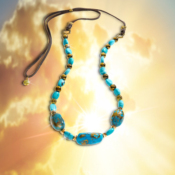 The Master Healer's Energy Necklace.  Three powerful healing stones surround you in healing and protective energies.