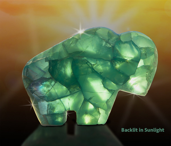 Fluorite Buffalo -  Harmony And Abundance Totem Sculpture