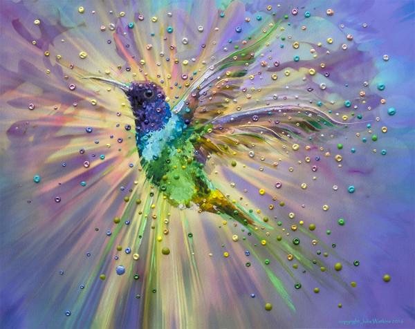 Hummingbird Magic Energy Painting - Giclee Print