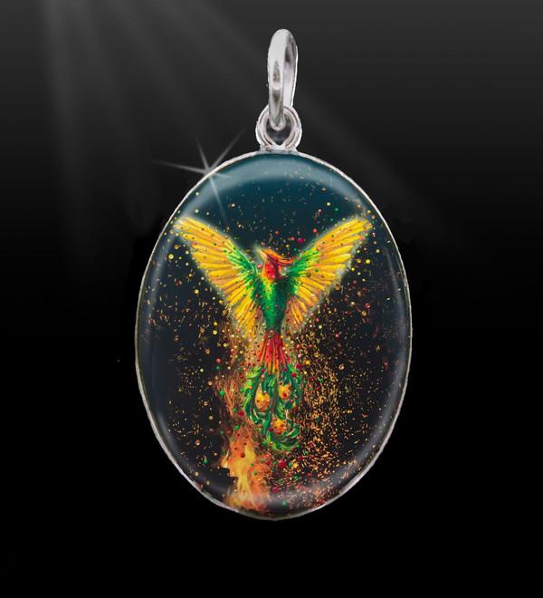 Phoenix Rising Energy Charm