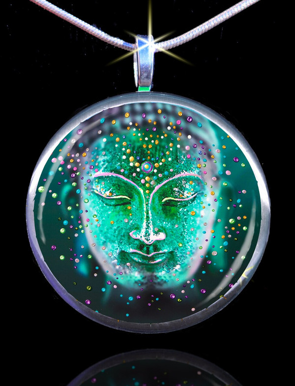 The Jade Buddha Good Luck Energy Pendant