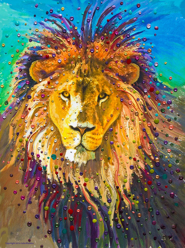 Lion Heart Energy Painting - Giclee Print