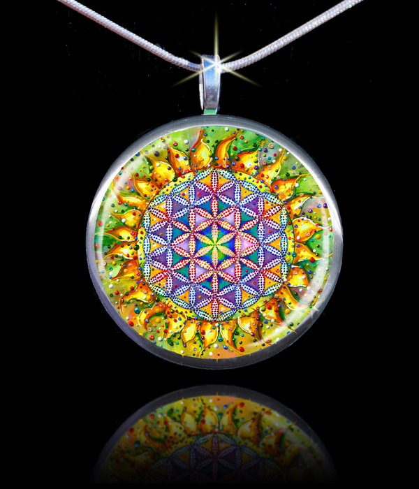Flower Of Life Sacred Energy Pendant - The vibration of the creator