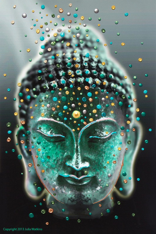 Buddha Deep Serenity Giclee Print - Release your fears and worries