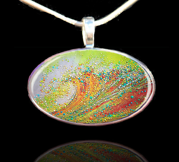 Golden Wave Personal Growth and Transformation Pendant