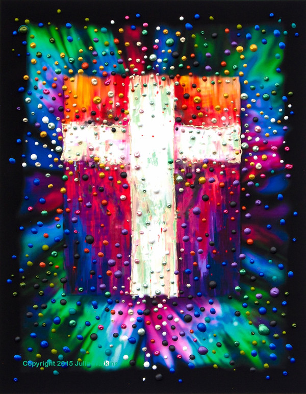 The Divine Energy Cross - Giclee Print