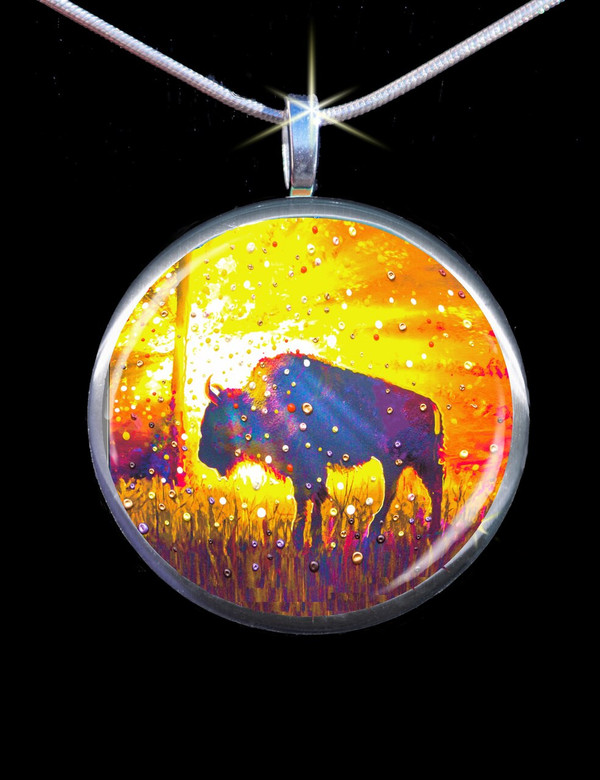 "Sacred Buffalo ""Easy Abundance"" Energy Pendant"