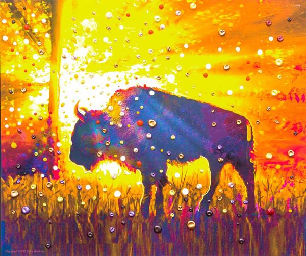 "Sacred Buffalo ""Easy Abundance"" Giclee Print"