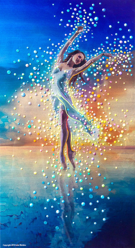 Water Dancer - In each of us is a bright and boundless spirit - Print