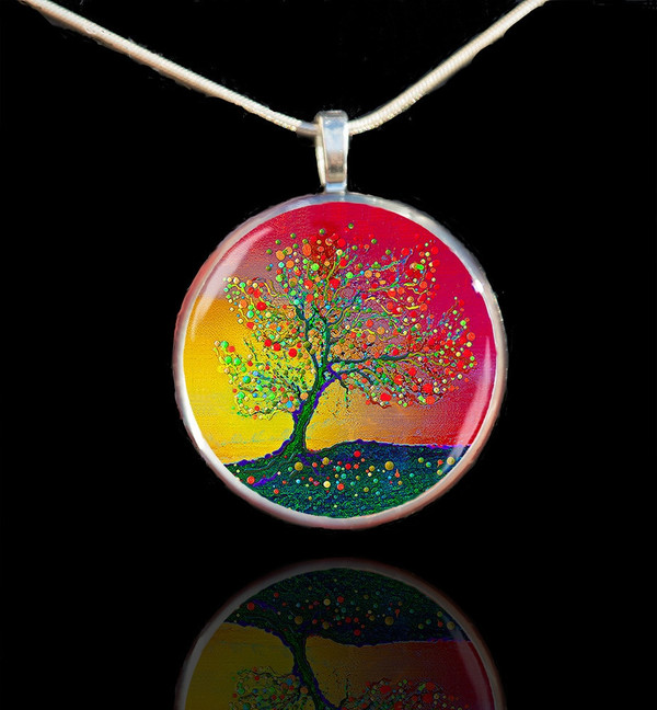 The Singing Angel Tree - Healing Energy Pendant