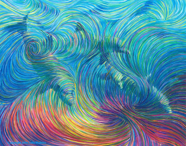 Dolphin Healing Energy Painting - Giclee Print