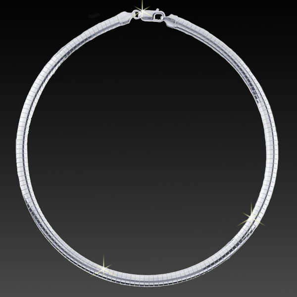 Pure Sterling Silver Omega Necklace - Guaranteed Silver Content