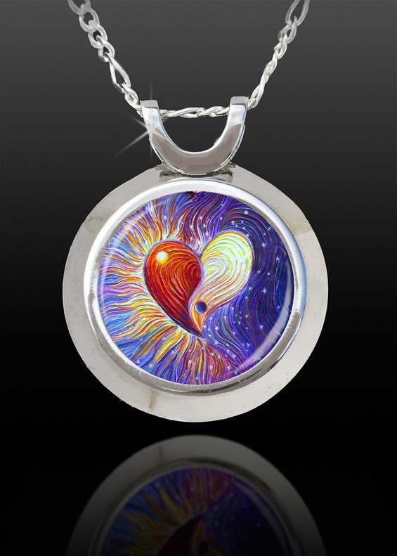 Yin Yang Heart  Magical Energy Pendant - From The Magical Chi Collection *