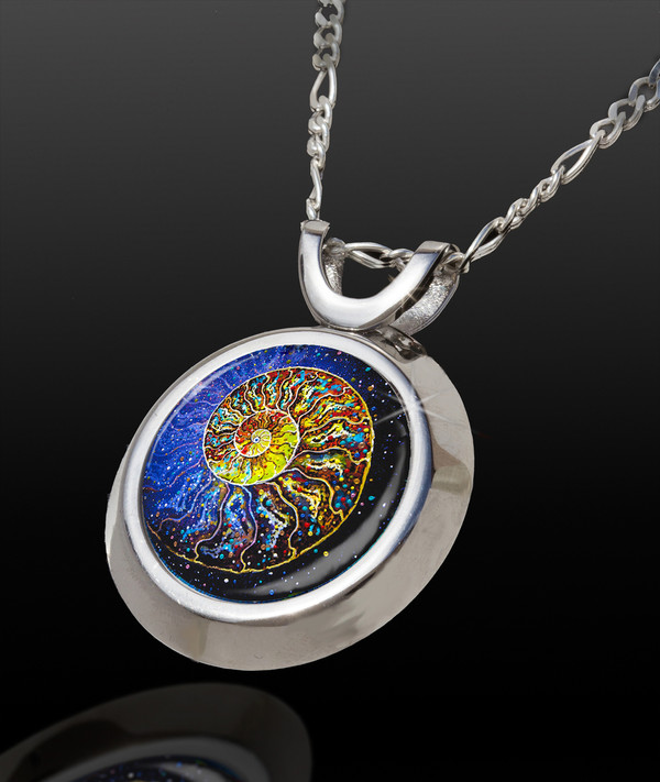 Sacred Nautilus Magical Energy Pendant - From The Magical Chi Collection *