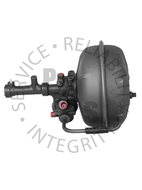 """2504055, Hydrovac, Bendix Fourth Series, Single Diaphragm  12-3/4"""" Diameter, 17-1/8"""" Overall Length 1/2"""" Input, 1/2"""" Output, 3/4"""" Air Cleaner Tube, 1/2"""" Vacuum Supply IHC Application"""