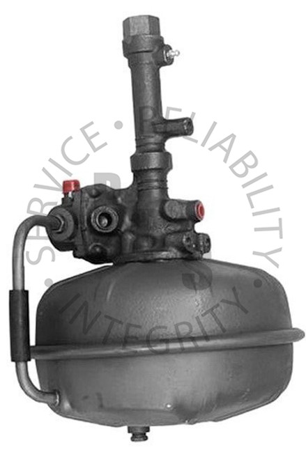 """2512140, Hydrovac, Bendix Fourth Series, Single Diaphragm  12-3/4"""" Diameter, 18-5/8"""" Overall Length 5/16"""" Inverted Flare Input, 5/16"""" Inverted Flare Output, 3/4"""" Air Cleaner Tube, 1/2"""" Vacuum Supply Ford Application"""