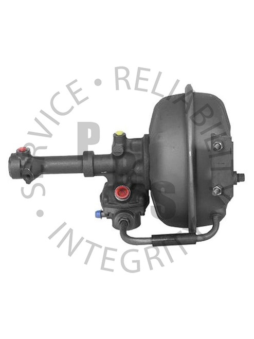 "2504102, Hydrovac, Bendix Fourth Series, Single Diaphragm  11-1/32 Diameter, 16"" Overall Length, Two Stud Bracket Facing Away From Can 1/4"" Inverted Flare Input, 5/16"" Inverted Flare Output, 1/2"" Air Cleaner Tube, 1/2"" Inverted Flare Vacuum Supply Chevy / GMC Application"