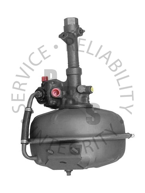 """2512059, Hydrovac, Bendix Fourth Series, Single Diaphragm  12-3/4"""" Diameter, 17-1/8"""" Overall Length 1/4"""" Inverted Flare Input, 7/16"""" Output, 3/4"""" Air Cleaner Tube, 1/2"""" Vacuum Supply IHC Application"""