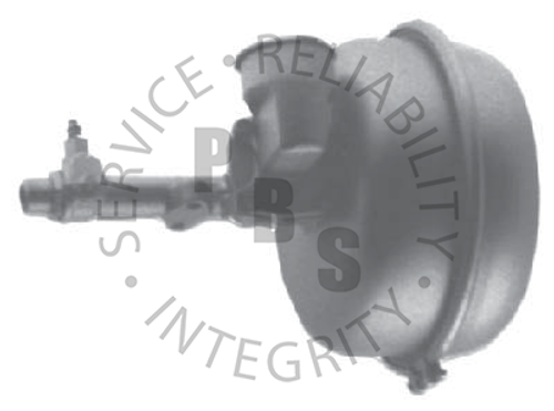 """C472, Hydrovac  10"""" Diameter, 14-3/4"""" Overall Length  Reservoir Inlet, 1/4"""" Inverted Flare Outlet"""
