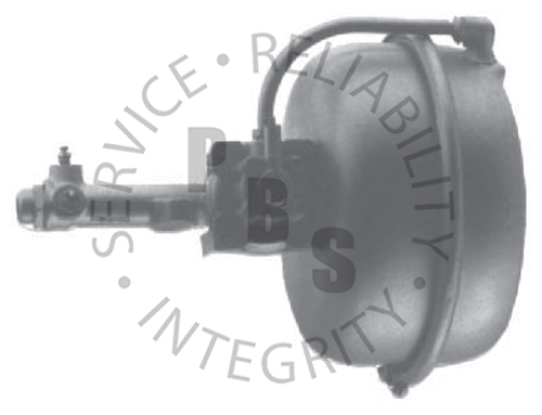 """C4005, Hydrovac  11-3/4"""" Diameter, 16"""" Overall Length  1/4"""" Inverted Flare Input, 1/4"""" Inverted Flare Output, Three Line Unit  Chevy, GMC Application"""