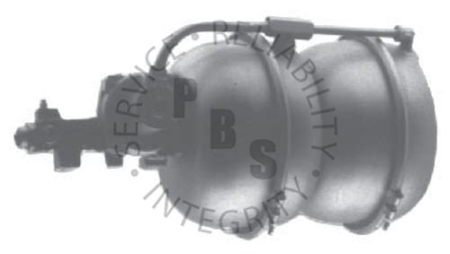 "C4006, Hydrovac  11-3/4"" Diameter, 23-3/4"" Overall Length  1/4"" Inverted Flare Input, 5/16"" Inverted Flare Output, Three Line Unit  Chevy, GMC Application"