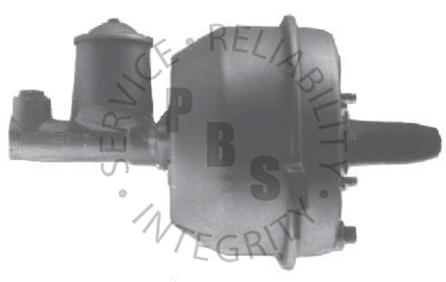 "C4025, Midland  9-1/2"" Diameter  5/16-18 x 3/4"" Studs, 3-1/8"" x 3-3/8"" Stud Pattern, With Metal Hub  Ford Application  C4025 with Master Cylinder, C4025L/M Without Master Cylinder, C3472 Master Cylinder Shown"