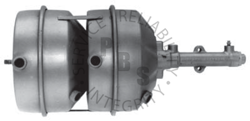 "C4702, Hydrovac, Tandem Unit  11-11/16"" Diameter, 24-1/2"" Overall Length  Reservoir Input, 1/4"" Inverted Flare Output"