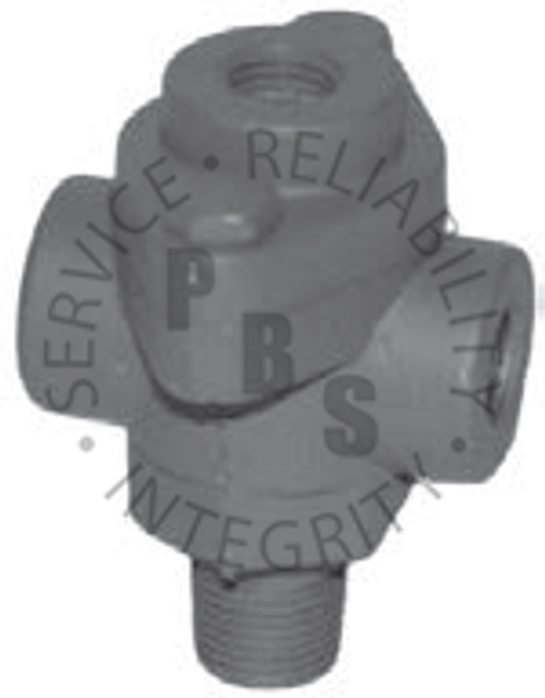 "278598G, Double Check Valve (4) 3/8"" Male, 3/8"" Female, 1/4"" Female Offshore Brand"