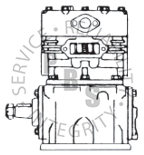 280284X, TF-600, Air Compressor, 6 hole, R.S., E.O., Water Cooled Head, Air Cooled Block **Call for availability and pricing**