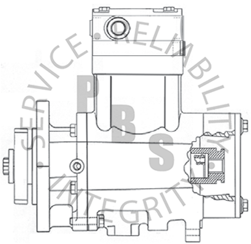 3558105X, QE296, Cummins / Holset Compressor, B Series, 11 Tooth Spline **Call for availability and pricing**