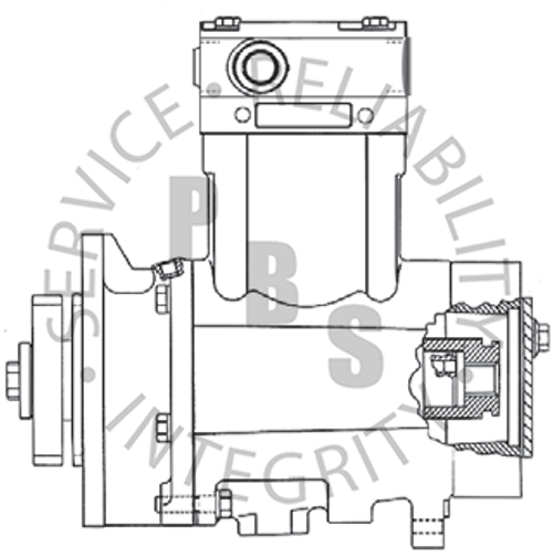 3558115X, QE296, Cummins / Holset Compressor, C Series, 13 Tooth Spline