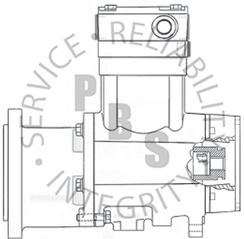 3558146X, QE296, Cummins / Holset Compressor, Mack, 11 Tooth, Thru-Drive