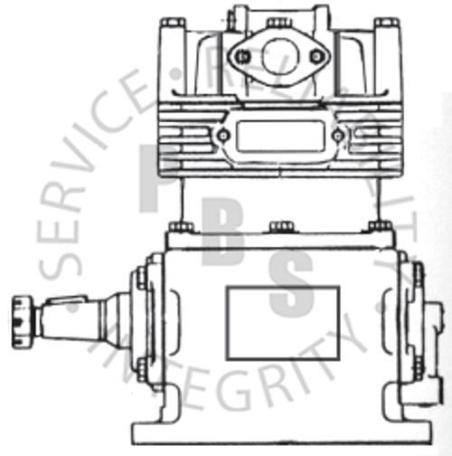KN12010X, Model 12, Midland / Haldex Compressor, Air Cooled