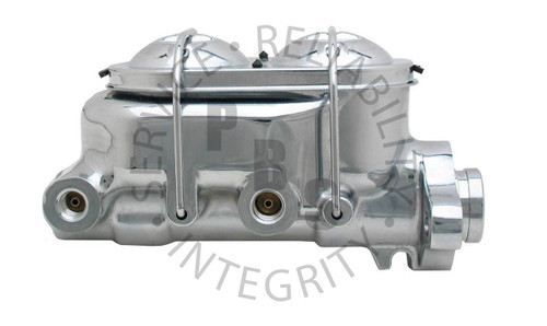 "MC1321ACH, Master Cylinder, 1"" Bore, 9/16"" 1/2"" Ports, Chrome"