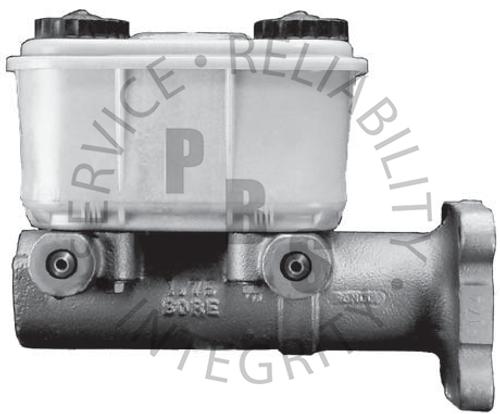 "R11892, Mini Master Cylinder  1.75"" Bore, 9/16-18 1/2-20, 30 Cubic Inch Aluminum Reservoir  ID #'s: 3590, 6180  Application: GM, Bosch AM"