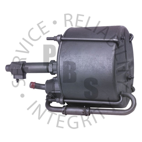 """374980, Hydrovac, Third Series, Single Piston Type  9-1/2"""" Diameter, 17-5/16"""" Over All Length 1/2"""" Input, 1/2"""" Output, 3/4"""" Air Cleaner Tube, 1/2"""" Vacuum Supply"""